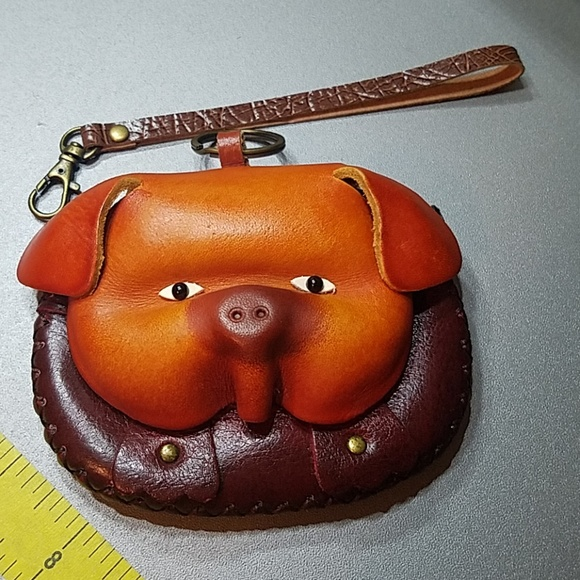Handbags - Leather Structure Pig Coin Purse